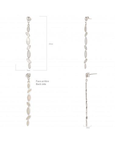 Geschenk für Frauen-Ohrhänger-Weiss Perlmutt-Sterling Silber-Frau