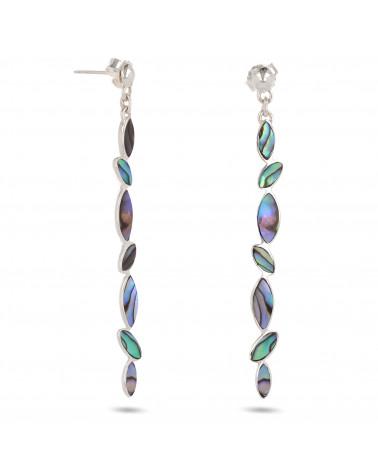 Geschenk für Frauen-Ohrhänger-Abalone Perlmutt-Sterling Silber-Frau