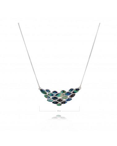 Abalone-Perlenblumenhalskette auf Silberkette