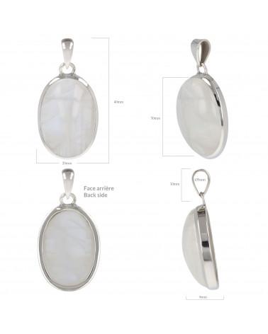 Ovalerform  Monstein Anhänger mit Silber