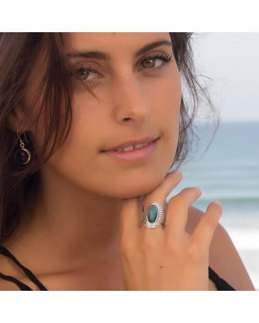 Geschenkidee Mom-Ring-Labradorite Stone-Sterling Silber-Frau-