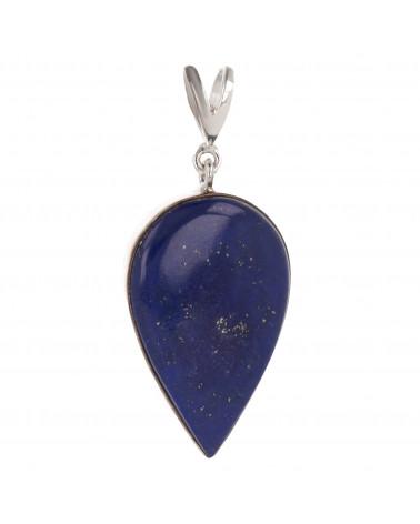 Silberner Anhänger und Lapis lazuli cabohon -Tropfen Form-Silber-Damen