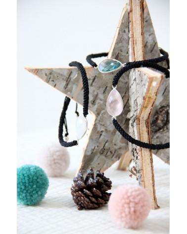 Mädchen Geschenk-Armband-Fine Stones-Sterling Silber-Einstellbare Cord-Frau