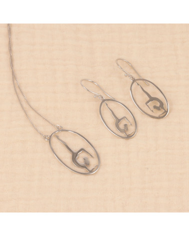 Geschenkidee Schmuck Zen Collection-Halskette-Yoga- Sterling Silber-Oval-Frau