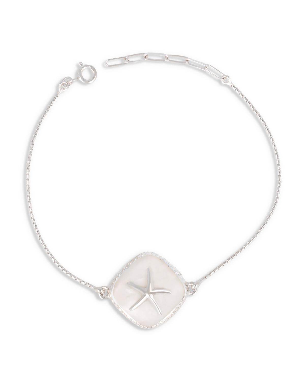 925 Sterlingsilber Perlmutt Weiss Seestern Armband