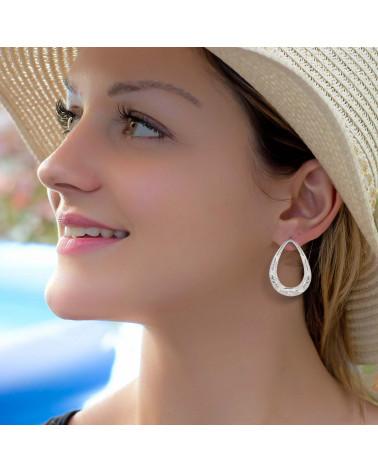 Regalo personalizado mujer-Pulsera Coral 3 flores Plata Plata Mujer