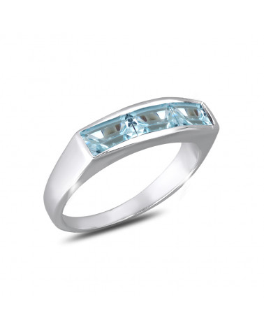 Anello di design in pietra ametista su argento 925