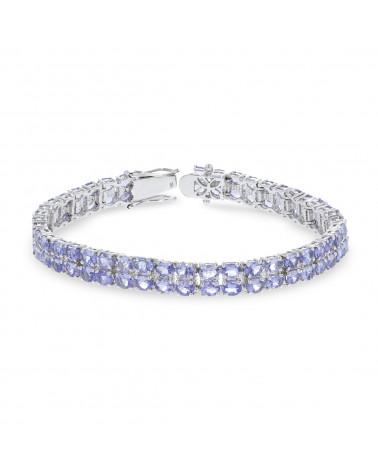 925 Sterling Silver Tanzanite Bracelet