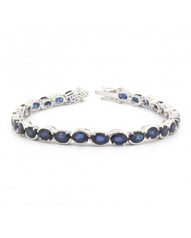 925 Sterling Silver Sapphire Bracelet