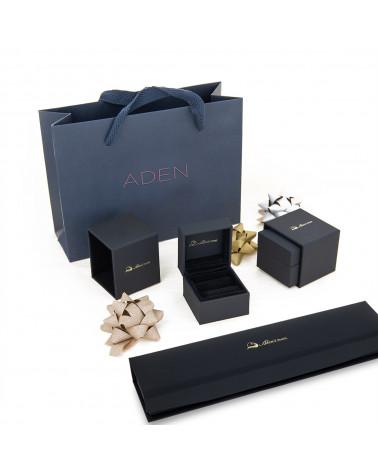Collar Colgante de Oro 14K Esmeralda y Diamantes Cadena Oro incluida