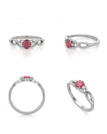 Anelli Oro Rubino diamanti