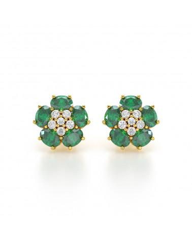 Orecchini in Oro 14K Smeraldo