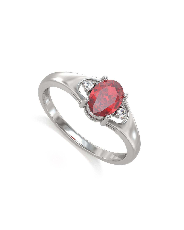 Anelli Oro Rubino diamanti 1.382grs