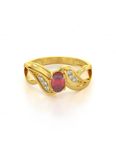 Anelli Oro Smeraldo diamanti 1.32grs