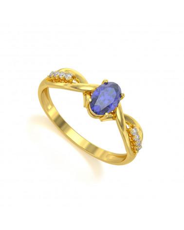 Gold Tanzanit Diamanten Ringe