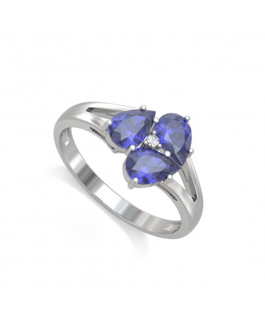 Anelli Oro Tanzanite diamanti