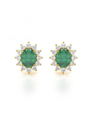 Orecchini in Oro 14K Smeraldo ADEN - 1
