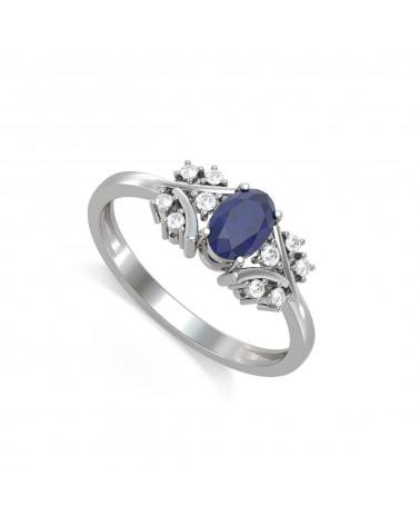 Anelli Zaffiro diamanti Argento 925 ADEN - 1