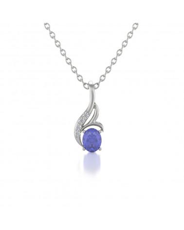 Gold Tanzanit Diamanten Halsketten Anhanger Goldkette enthalten ADEN - 1