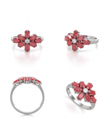 Anelli Rubino diamanti Argento 925 ADEN - 2