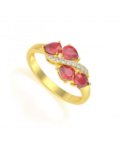 Anillo de Oro Rubi y diamantes ADEN - 1