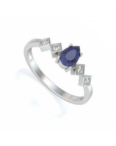 Anelli Oro Zaffiro diamanti 1.296grs ADEN - 1