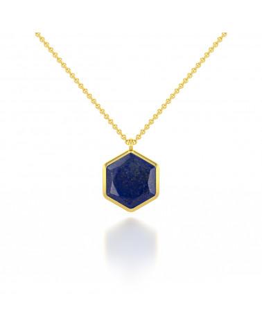 Collana amazzonica Sfaccettato Forma Rotonda Placcato oro ADEN - 1