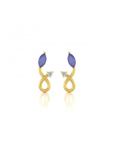 Orecchini in Oro Tanzanite Diamanti ADEN - 1