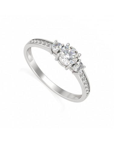 Anillo de Oro Diamantes 1.7grs ADEN - 1