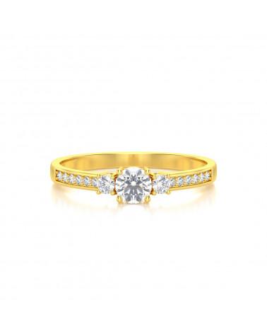 Anillo de Oro Diamantes 1.7grs ADEN - 3