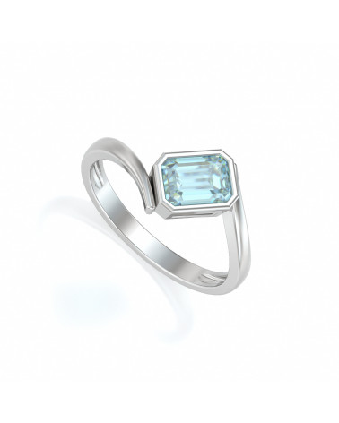 Gold Aquamarin Ringe ADEN - 1