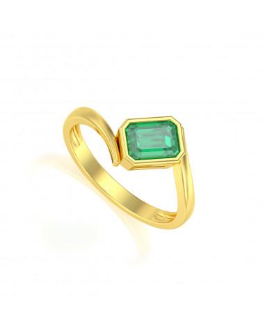 Anelli Oro Smeraldo ADEN - 1