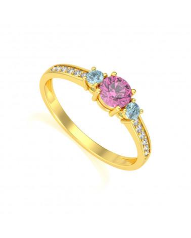 Anillo de Oro Tanzanita y diamantes ADEN - 1