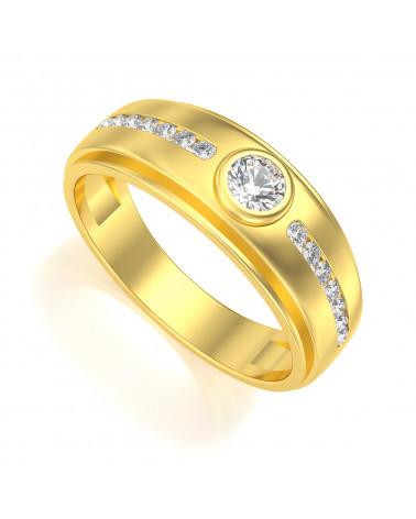 Anelli Biker Onix Diamanti Oro ADEN - 1