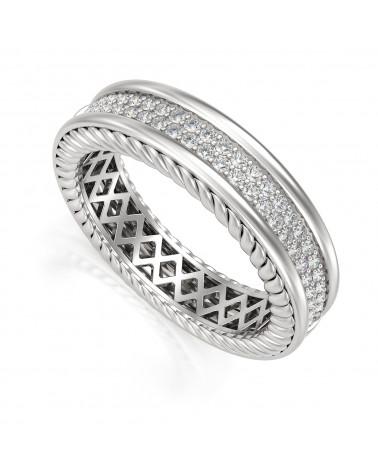 Anillo Diamantes Oro ADEN - 1